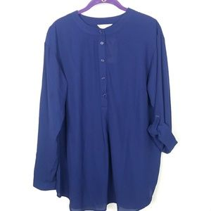 Anthology Women's Size 12 Grandfather Style Tunic